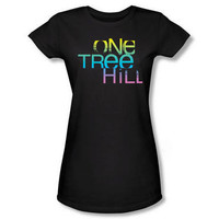 One Tree Hill Color Blend Logo Women's Fitted Black T-Shirt | WBshop.com | Warner Bros.