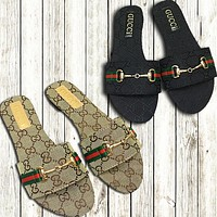 GUCCI 2019 new women's models wild wear beach sandals