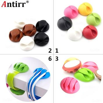 Universal Cable Bobbin Winder clamp protector Earphone Organizer Wire Cord Desk Fixer Holder Data line Tidy Collation Management