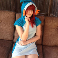 Mudkip Hoodie dress costume Cosplay Kigurumi Pokemon halloween