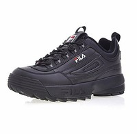 2018 Fila Disruptor II 2  Sneaker Running Shoes black white Big sawtooth Thick bottom increased  Man Low Outdoor Sneakers 39-44