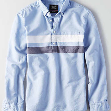 AEO Apres Active Popover Shirt, Blue