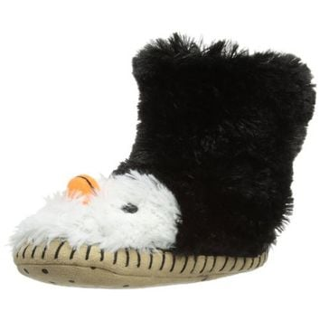 Hatley Girls Slouch-Slipper Penguin Children's Lined Novelty Slippers