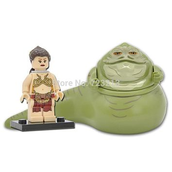 Figure Single Sale Jabba The Hutt Princess Leia With Chain Building Blocks Set Model Legoingly Toys