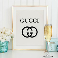 Gucci printable art, Gucci wall art printable, Gucci fashion wall art, love Gucci Gucci Logo Poster, Gucci logotype, Gucci fashion print