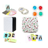 MINILUJIA for instax Mini 8 Instant Film Camera Accessories Bundles (Instax Mini 8 Case/ Mini Album/ Close-Up Selfie Lens/ 4 colors Close-Up Lens/ Wall Hang Frames/3 inch Film Frame/ Film Stickers)