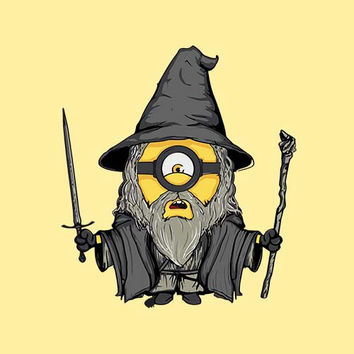 Gandalf Minion Adult Tee Shirt