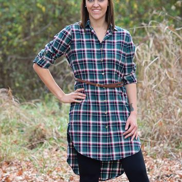 Love In Women's Button up Flannel Dresses
