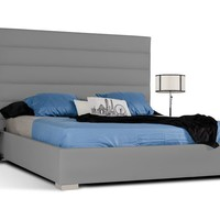 Modrest Kasia Modern Grey Leatherette Bed
