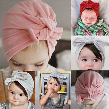 ESBONJ 2017 Newborn Baby Toddler Kid Boy Girl Bowknot Beanie Hat Cap Hair Accessories(Bowknot  need Bind BY yourself)