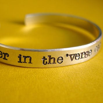 Firefly Bracelet: No power in the 'verse can stop me -Hand Stamped Cuff Bracelet