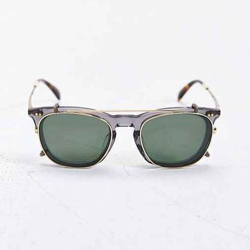 TOMS Polarized Maxwell Clip Square Sunglasses- Grey One