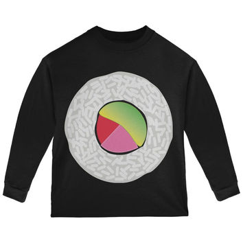 Halloween Sushi Costume 2 Black Toddler Long Sleeve T-Shirt
