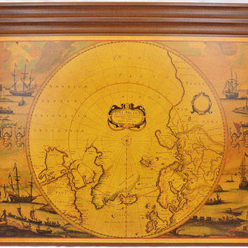 Horchow Desk Blotter, Old World Map, Made in Italy, Luxury Desk Blotter, Vintage Office