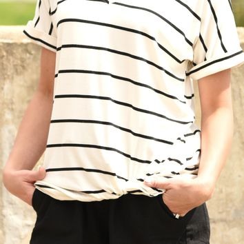 Knot Today Striped Top