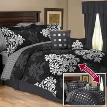 Matador White Reversible 10 Piece Comforter Set