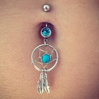 Dream Catcher Belly Ring from Country Wind