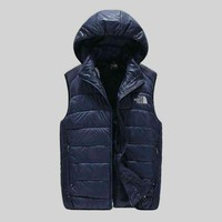 The North Face Hooded Warm Vest Waistcoat Cardigan Jacket Coat