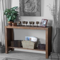 Belham Living 48L x 30H in. Brinfield Rustic Console Table | www.hayneedle.com