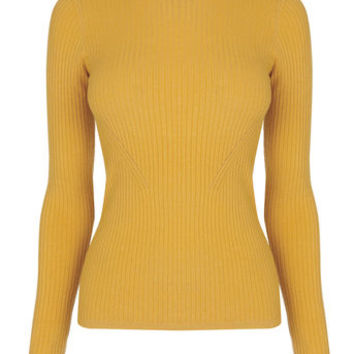 LONG-SLEEVED RIB TOP