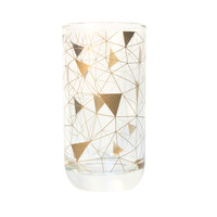 High Ball Geometric Copper Triangles Glass