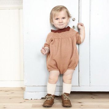 New Arrive Baby Knit Rompers Boys Girls Children Autumn Spring Clothes Infant Long Sleeve Sweater Roupas