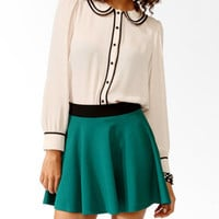 Contrast Layered Collar Shirt