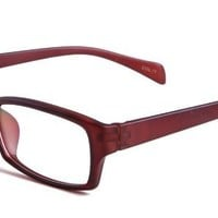 Analisa Eyeglasses with Brown Acetate Rectangle Full Frame/Rim Frame