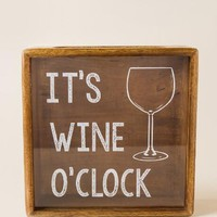 It's Wine O'Clock Wood Cork Shadow Box