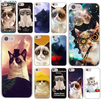 Lavaza grumpy cat meme Lovely Hard Cover Case for Apple iPhone 8 7 6 6S Plus 5 5S SE 5C 4 4S X 10 Coque Shell