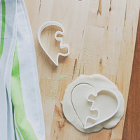 Heart Puzzle Cookie Cutters (3D printed)