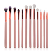 High quality 12 Pcs Eyeshadow Eyeliner Brush Blending Pencil Foundation Eye shadow Makeup Brushes