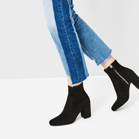ELASTIC HIGH HEEL ANKLE BOOTS