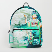 The Goddess of Mercy Backpacks by Azima