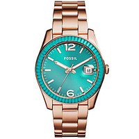 Fossil Ladies' Perfect Boyfriend Rose Gold Stainless Steel Watch - Ros