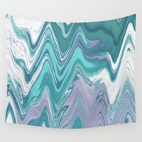 Ripple Waves Wall Tapestry by sm0w