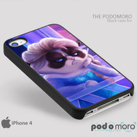 Grumpy Cat Elsa Frozen for iPhone 4/4S, iPhone 5/5S, iPhone 5c, iPhone 6, iPhone 6 Plus, iPod 4, iPod 5, Samsung Galaxy S3, Galaxy S4, Galaxy S5, Galaxy S6, Samsung Galaxy Note 3, Galaxy Note 4, Phone Case