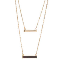 Sofia Layered Bar Necklace