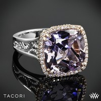 Tacori Blushing Rose Amethyst and Diamond Ring in Sterling Silver with 18k Rose Gold Accents