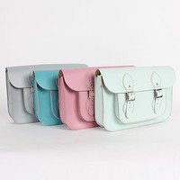 Leather Satchel Pastel Collection