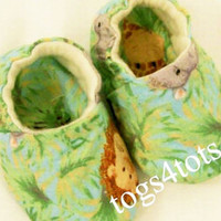 Baby Boys Safari soft fabric shoes, Baby Shower Gift, Made in the USA, #1