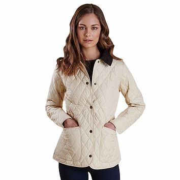 Montrose Quilted Jacket in Macadamia by Barbour