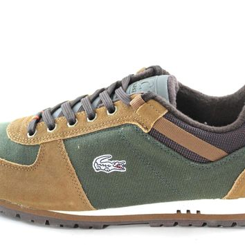 Lacoste Hollandale Mens Dark Green/Brown Hiking Sneakers Shoes
