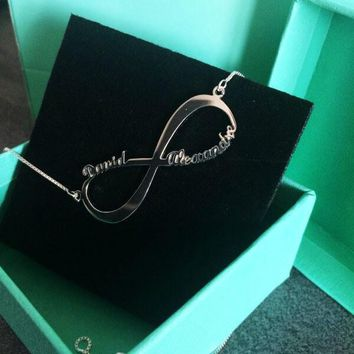 Infinity Two Name Necklace   Infinity Name necklace