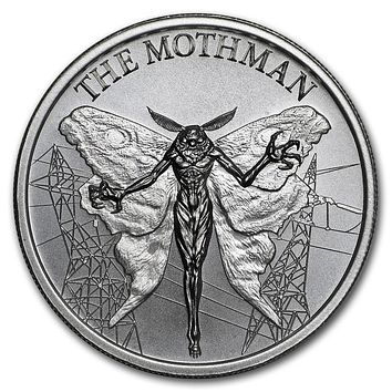 2 oz Silver High Relief Round - The Mothman