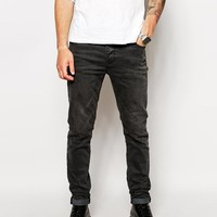 ASOS | ASOS Skinny Jeans In Mid Black Wash at ASOS