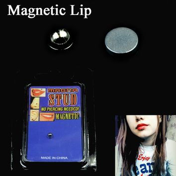 1PC Fake Cheater Piercing Non Pierced Magnet Ear Lip Labret Nose Ring Stud Body Jewelry No Piercing Magnetic Earrings Jewelry