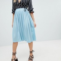 Missguided Pleated Midi Skirt at asos.com