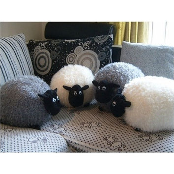 Gray Shirley Stuffed Soft Plush Toy for Shaun The Sheep Character White Gray Baby Toy [9145128454]