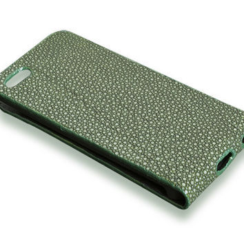 iPhone 5S case - green stingray